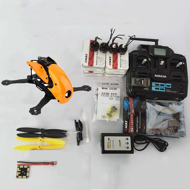 Aerops Robocat 270 270mm Carbon Fiber Racing Drone Mini Quadcopter Frame  2204 KV2300 Kit Motor CC3D EVO flight Controller 12A ESC DIY