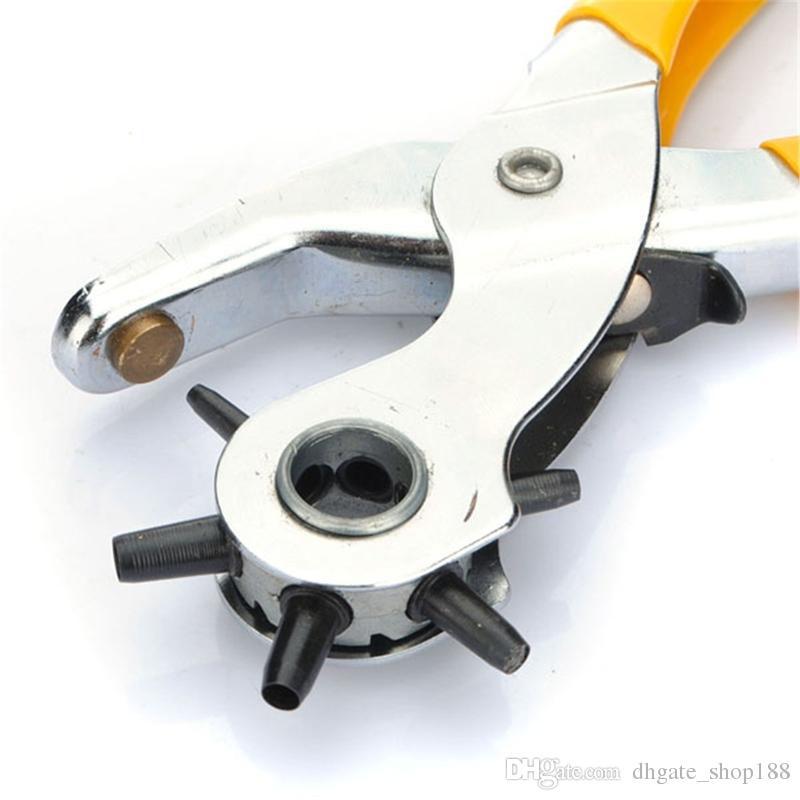 أفضل ترويج 6 الحجم الدائر حزام جلد ووتش للفرقة حزام هول لكمة الناخس ذو طيات ووتش أداة إصلاح