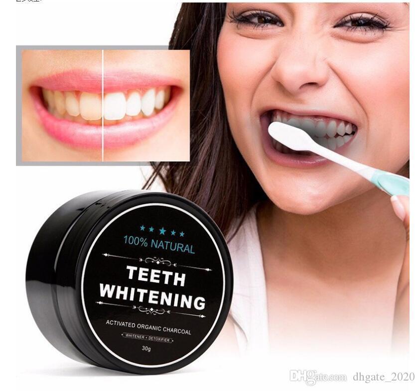 الاستخدام اليومي تبييض الأسنان تحجيم مسحوق نظافة الفم تنظيف التعبئة قسط المنشط الخيزران الفحم مسحوق الأسنان الأبيض