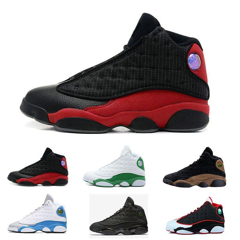 finest selection be05a 89d8f Acheter Nike Air Jordan 13 Basketball shoes Date Hommes Classique 13 13 S Chaussures  Italie Bleu Hyper Royal Olive Amour Respect Noir Chat Toe Altitude Bred ...