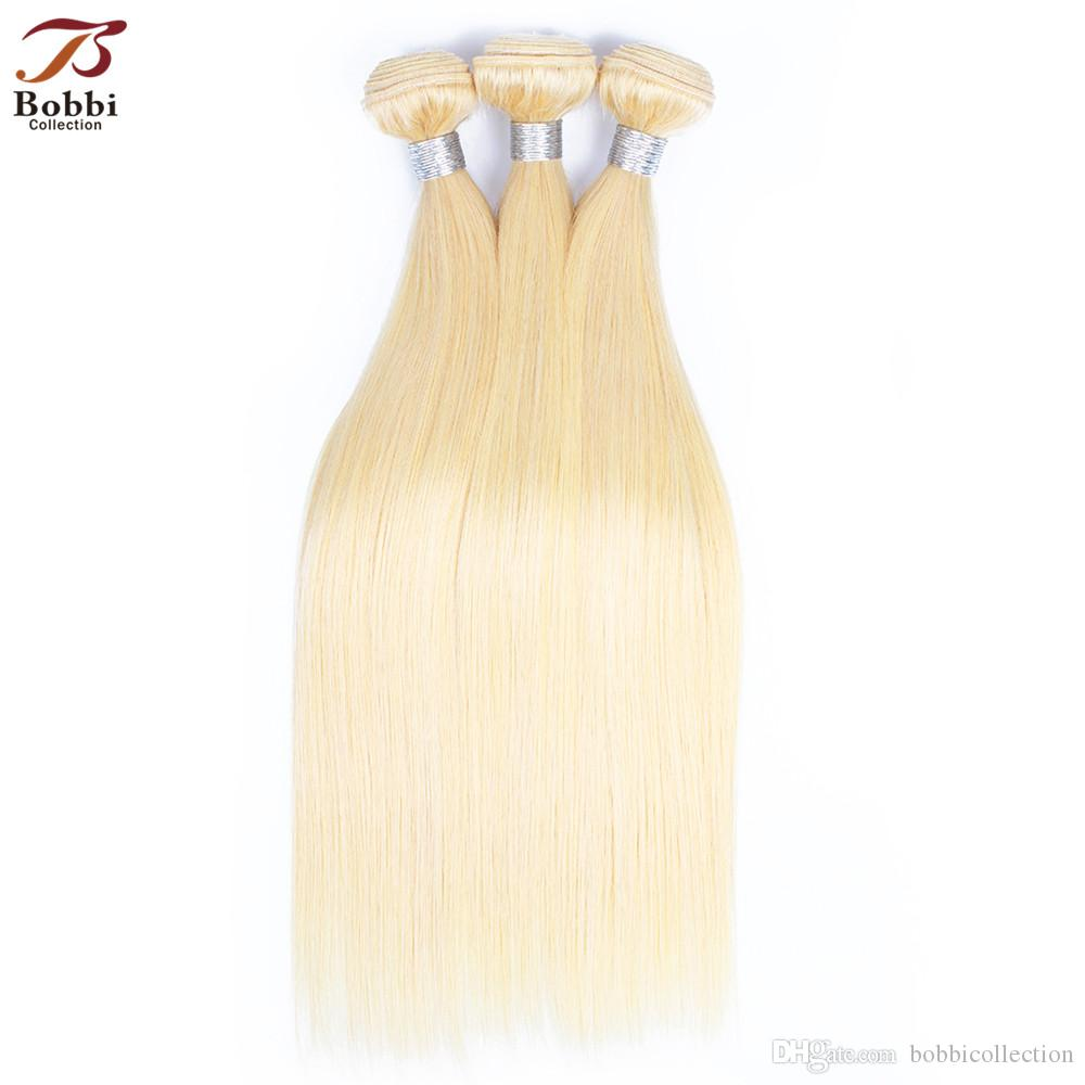 Brazilian Straight Hair Weave Bundles Color 613 Blonde Hair Wefts 3 Pieces 10-28 Inch Remy Human Hair Extensions Free Shipping