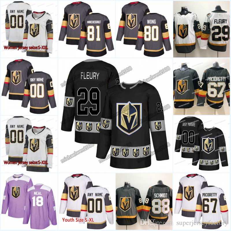 New Season Vegas Golden Knights 67 Max Pacioretty 28 William Carrier 56  Erik Haula 38 Tomas Hyka 11 Curtis McKenzie Hockey Jerseys Vegas Golden  Knights ... 76bf21f3b
