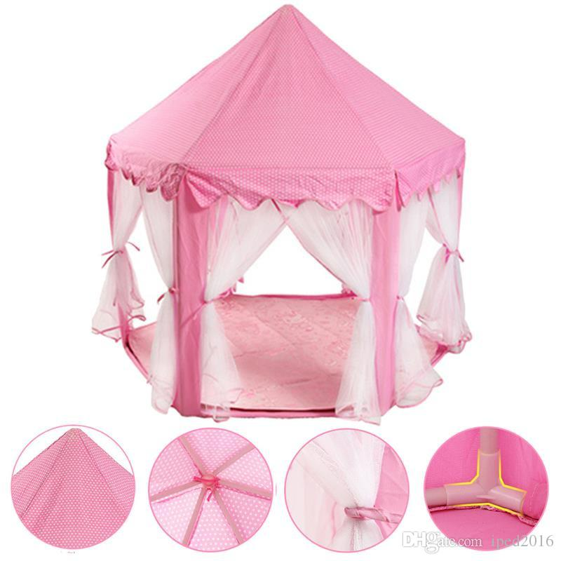 Lovely Girls Pink Princess Castle Cute Playhouse Children Kids Play Tent Outdoor Toys Tent For Children Kids