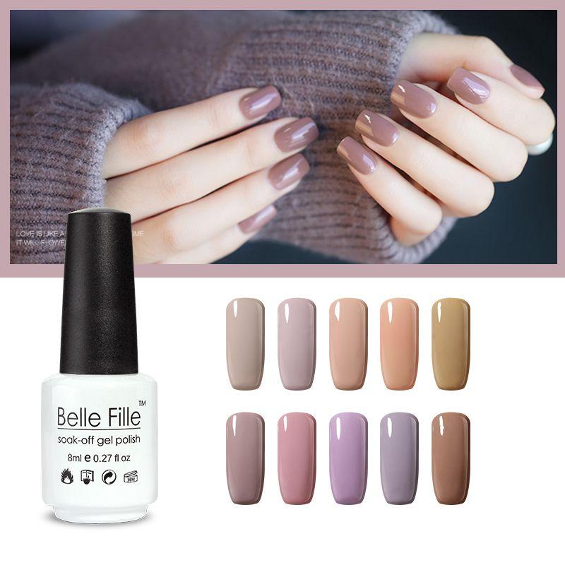 Wholesale Nude Series Belle Fille Nail Uv Gel Polish Lacquer Soak
