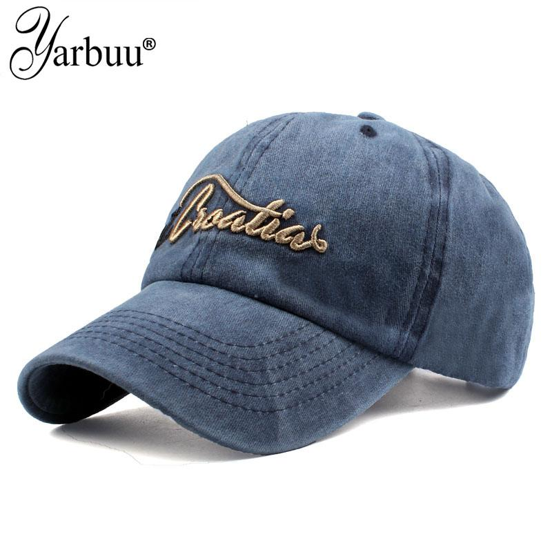 65443bad882 YARBUUCotton Gorras Embroidery Anchor Baseball Cap Vintage Casual Hat  Snapback Adjuatable Baseball Caps Brand New For Adult Snapback Cap Cool Hats  From ...