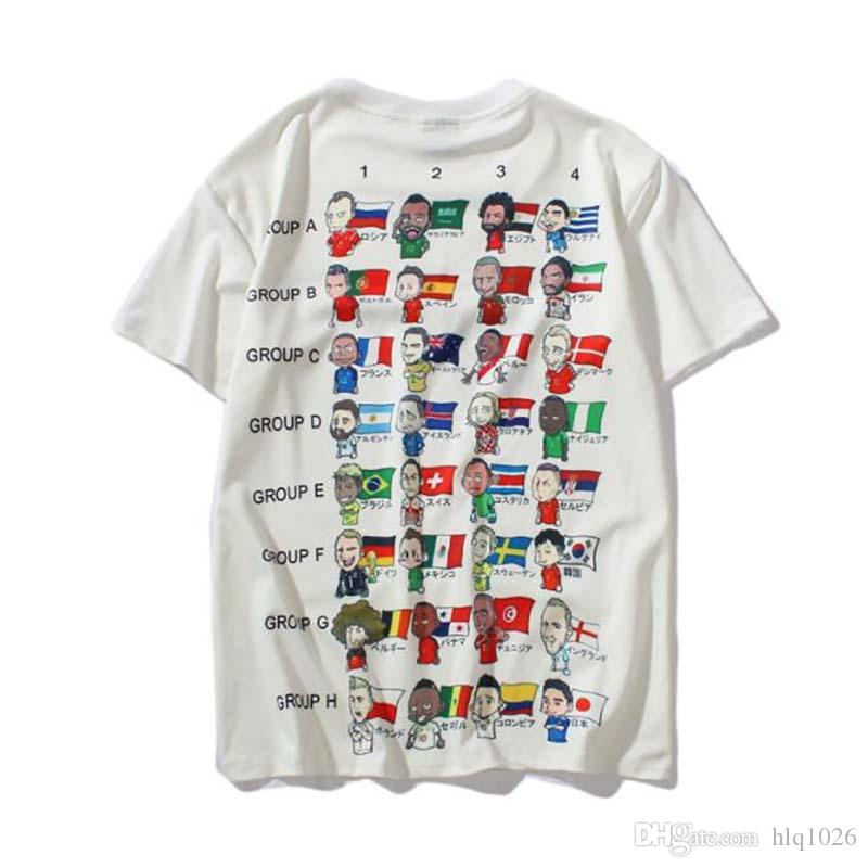 16266c22d4e6 Summer T Shirt For Men Casual World Cup Tee Tops Mens Hip Hop New Design  Street Men Cheap T Shirt Funny Team Shirts Trendy T Shirts For Men From  Hlq1026