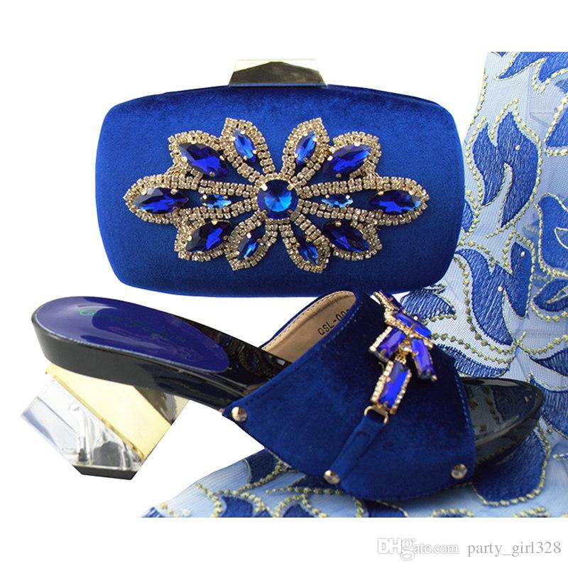 New Shop 50 Discount Royal Blue Color Decorated With Rhinestone