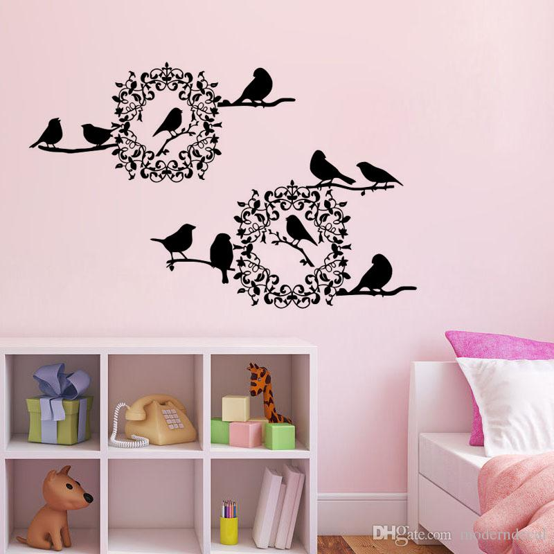 birds in the tree wall stickers diy vinyl adhesive wall decals