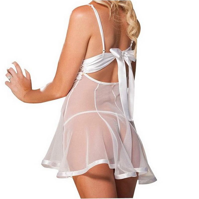 Сексуальные Девушки ночные платья пижамы пижамы Женские платья ночная рубашка дамы dressing Underwear See through M L XL XXL