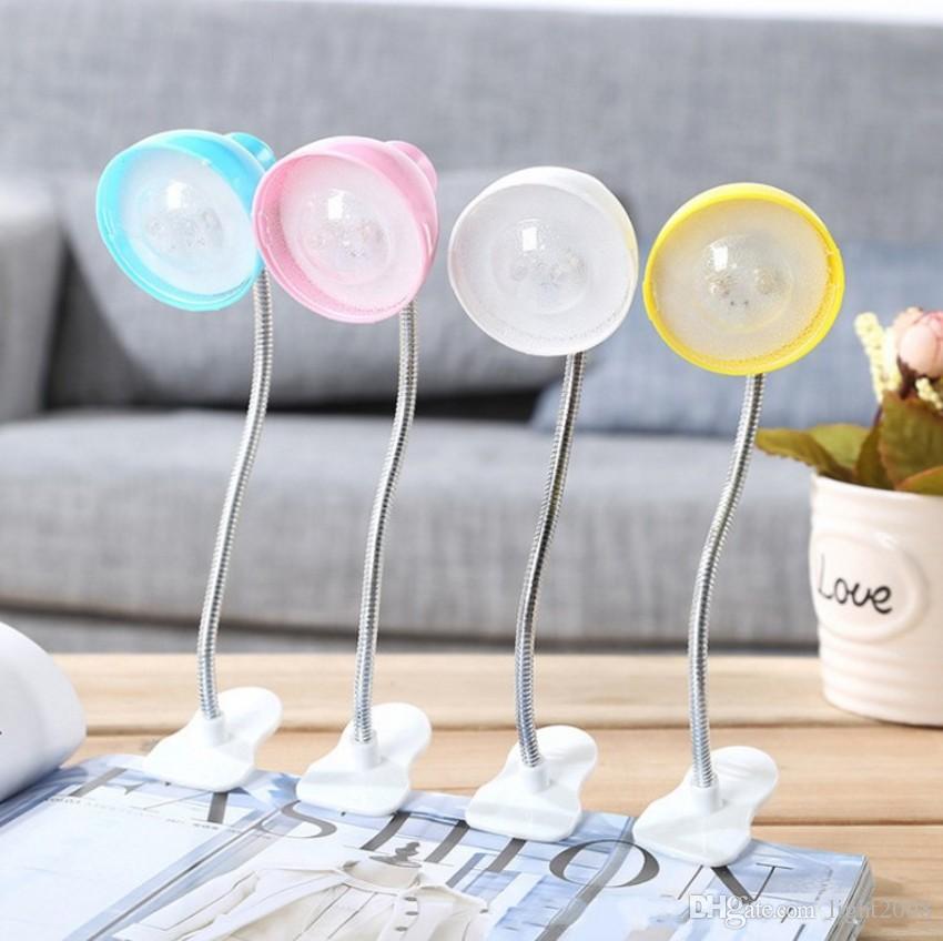 Mini LED pequeno livro clipe lâmpada pode dobrar criativo lâmpada de leitura lâmpada de mesa de cabeceira frete grátis