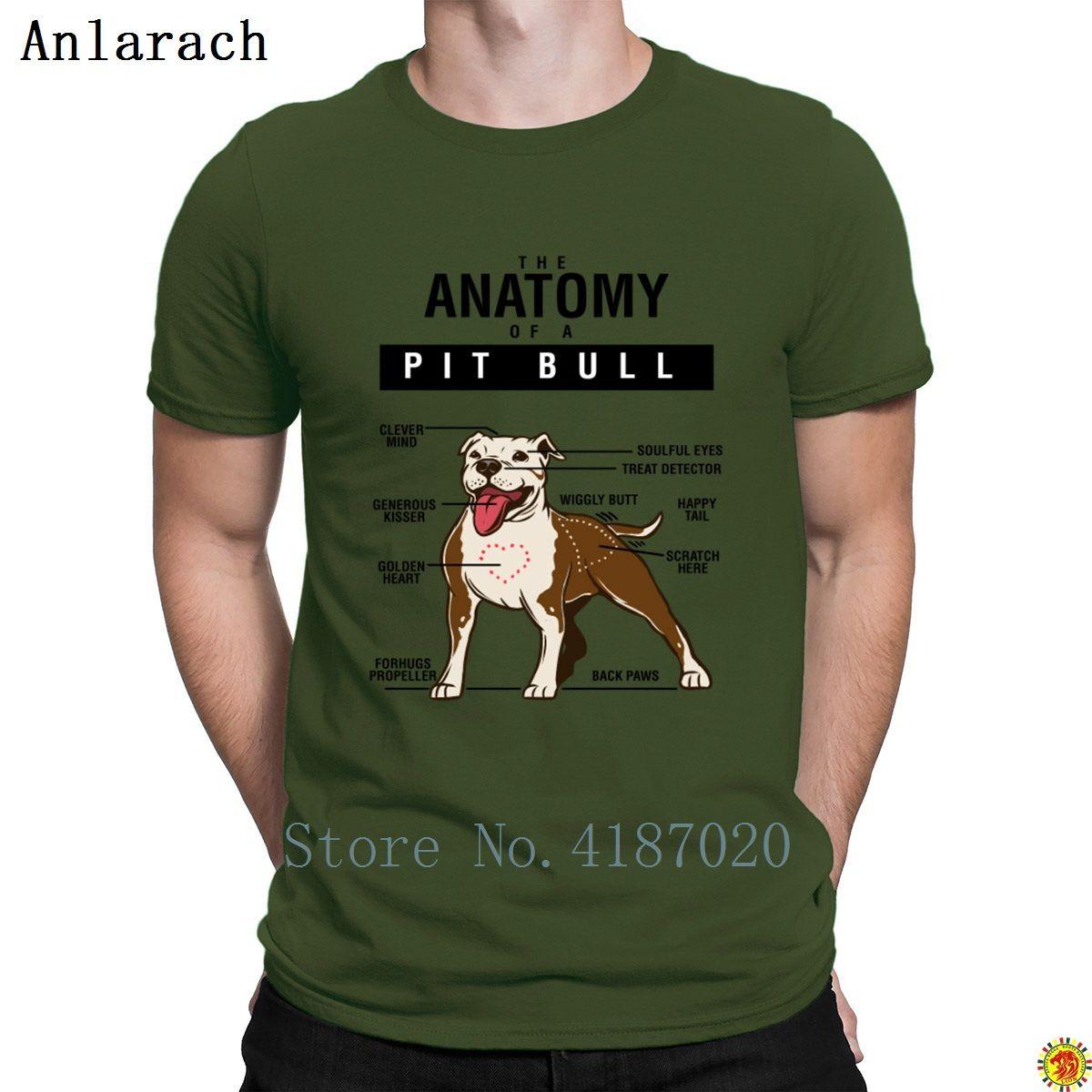 Funny Dog Anatomy Of Pitbull T Shirts Custom Big Sizes Hip Hop