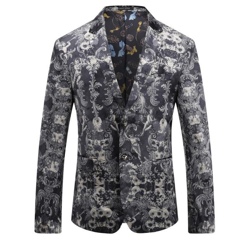 Floral Casual Blazer Hommes de Haute Qualité Homme Blazer 2017 Automne Nouvelle Arrivée De Mode Slim Fit Hommes Costume Asiatique Taille Hommes