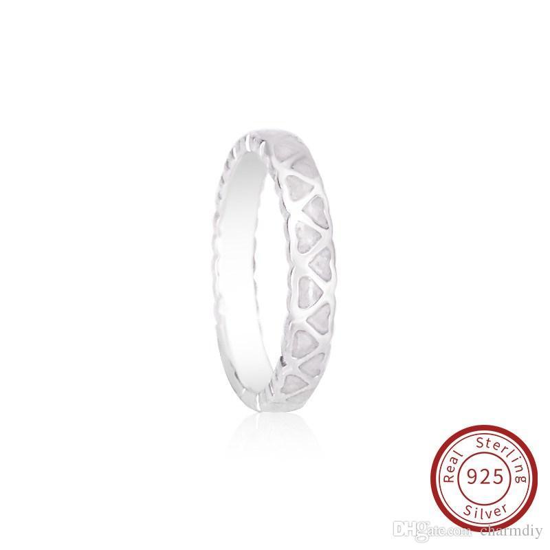 776eeda8dff6 Compre Pandora Charm Ring S925 Plata De Ley Nueva Abundancia De Amor Con  Esmalte De Plata Ajuste Para Pandora Anillo Joyería 190975EN23 A  11.6 Del  Charmdiy ...