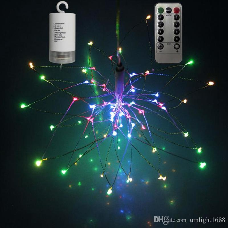 Umlight1688 Battery Operated Decorative Led Lights Firework Shaped ...