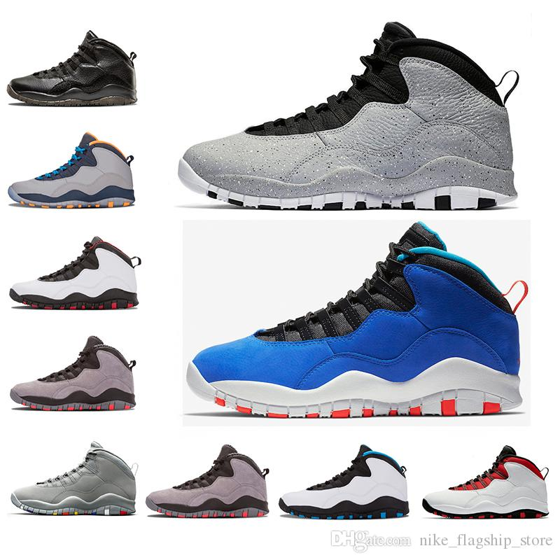 60ccf3e11e0b68 10 10s New Tinker Huarache Light Basketball Shoes Cement Westbrook I M Back  White Black Cool Grey Steel Grey Men Sports Sneakers 41 47 Sports Shoes  Online ...