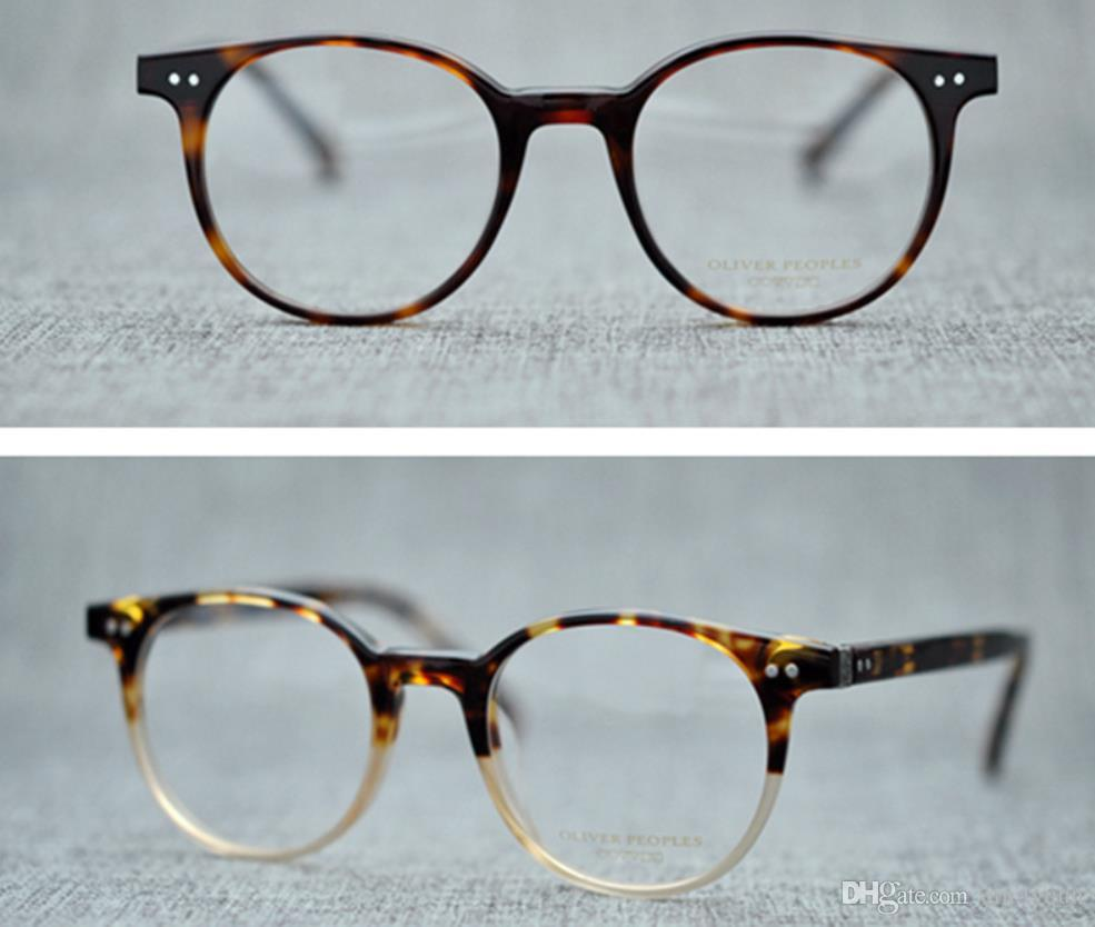 bf910f678e3 2019 Men Optical Glasses Frames Oliver Peoples OV5318 Brand Designer  Vintage Round Glasses Frames For Women Myopia Eyeglasses With Original Case  From ...