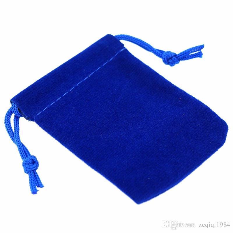 الحقائب المخملية الرباط لينة مختلط لون المجوهرات هدية أكياس التعبئة والتغليف ل Chirstmas أكياس هدية السنة الجديدة