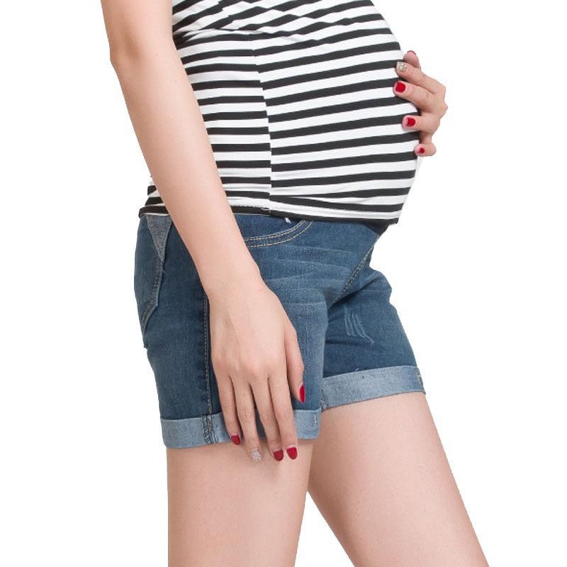 406cbd6b1 Compre Summer Denim Maternity Shorts Para Mujeres Embarazadas Ropa Embarazo  Ropa Pantalones Cortos Maternidade Pantalones Gravida Nuevo 2017 A  22.56  Del ...
