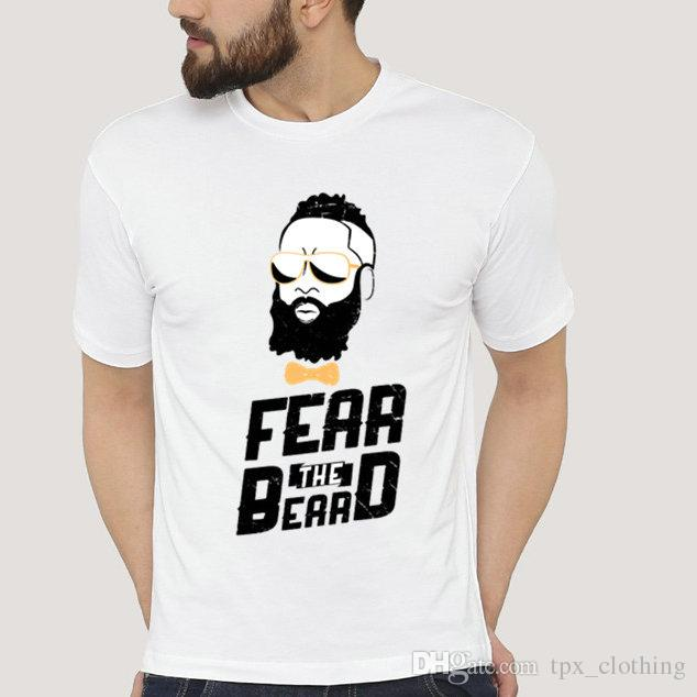 d1b3b23c55bc Fear The Beard T Shirt James Harden Short Sleeve Gown Basketball Star Tees  Pure Colorfast Picture Clothing Quality Modal Tshirt Funny It Shirts  Ridiculous ...