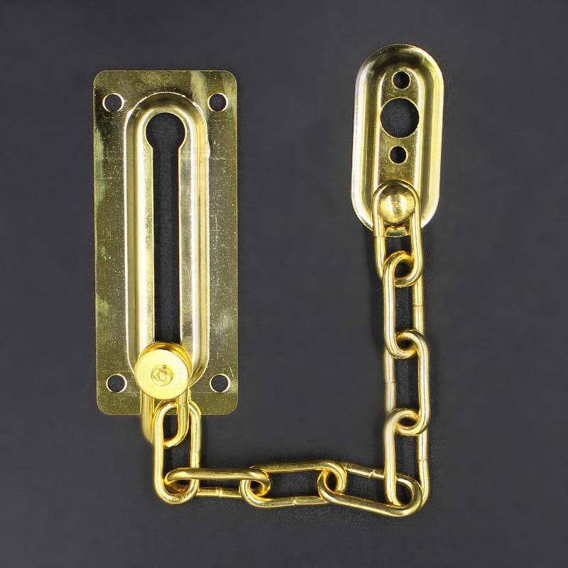 Chrome Chain Door Safety Guard Latch Security Peep Bolt Locks Cabinet Latches DIY Home Tools