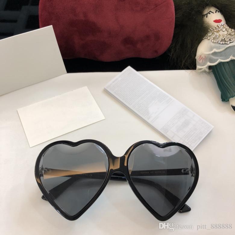 545e64179a New High Quality 0360S Luxury Brand Heart Frame Popular Fashion ...