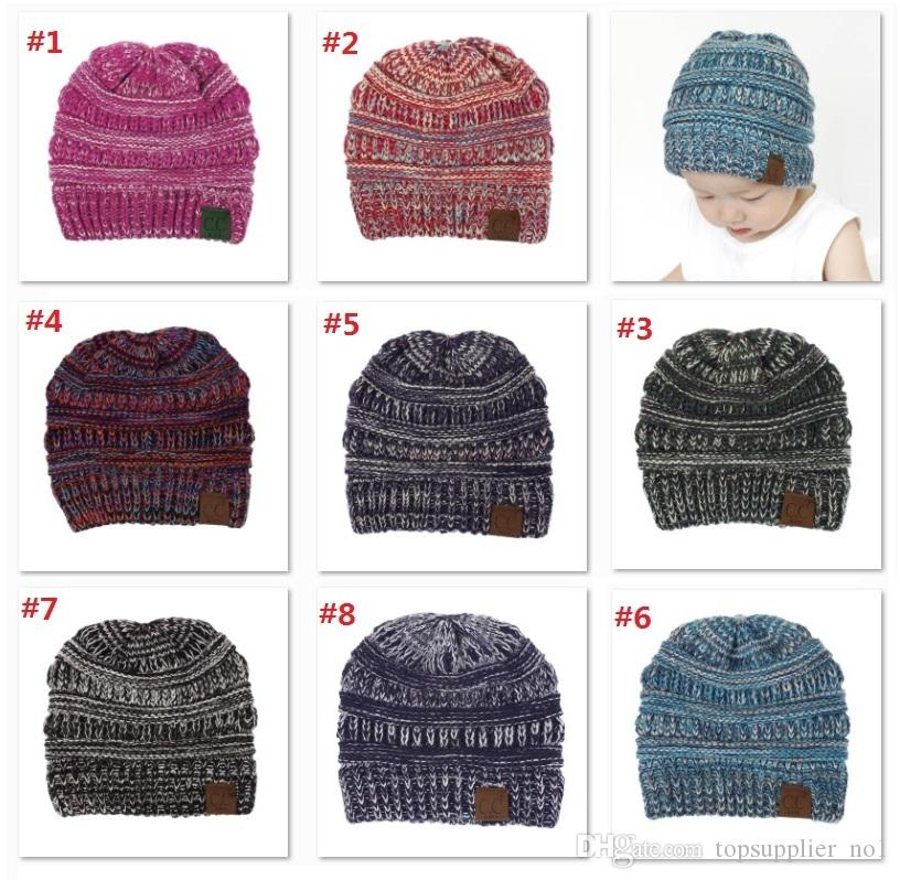 dcafd43c48238 New Baby Hats CC Trendy Beanie Crochet Beanies Outdoor Hat Winter ...