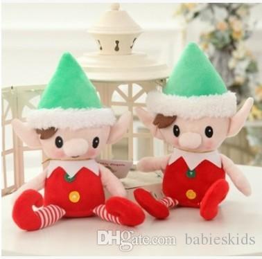 Christmas Toy Cartoon Christmas Elf Stuffed Toy Plush Doll For