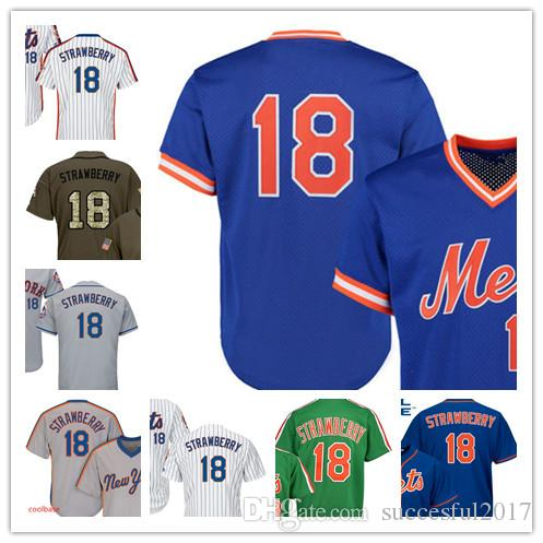 1a9c83416 Men s New York Darryl Strawberry Mitchell   Ness Royal White Cool ...