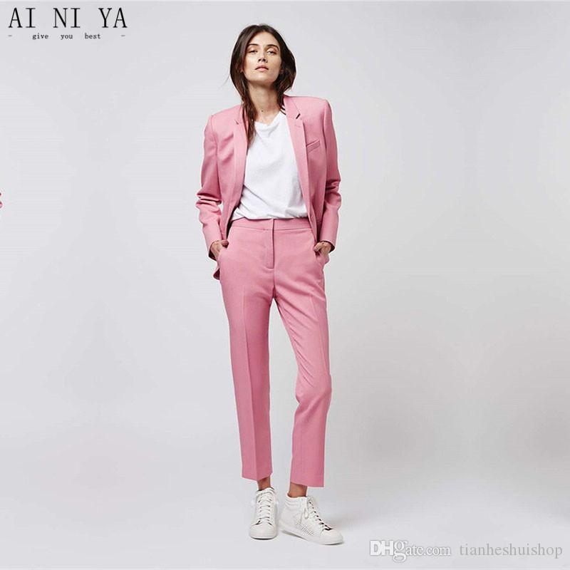 Acheter Rose Costumes Femmes Formelle Business Pantalon Veste ZZqwOx7WaU