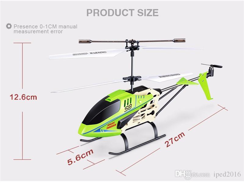 SYMA S8 3.5CH RC Hubschrauber Elektro mit Gryo Fernbedienung Suche Licht RTF Modell Spielzeug Geschenk für Kind