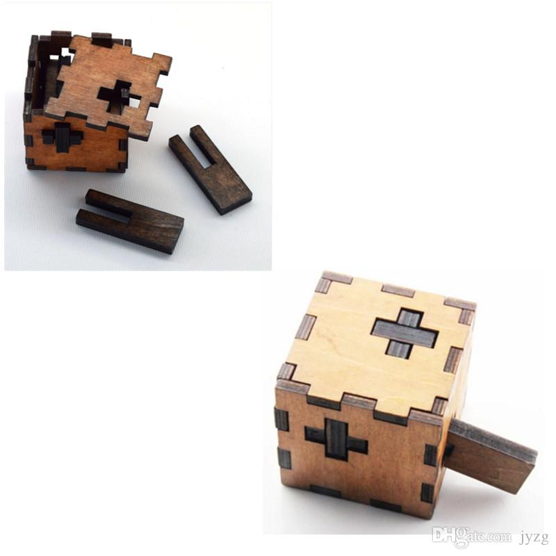 هدية عيد الميلاد كونغ مينغ وبان قفل أطفال الأطفال 3D ألعاب خشبية الكبار الكلاسيكية تربية الاطفال لعبة مكعب لعبة الألغاز