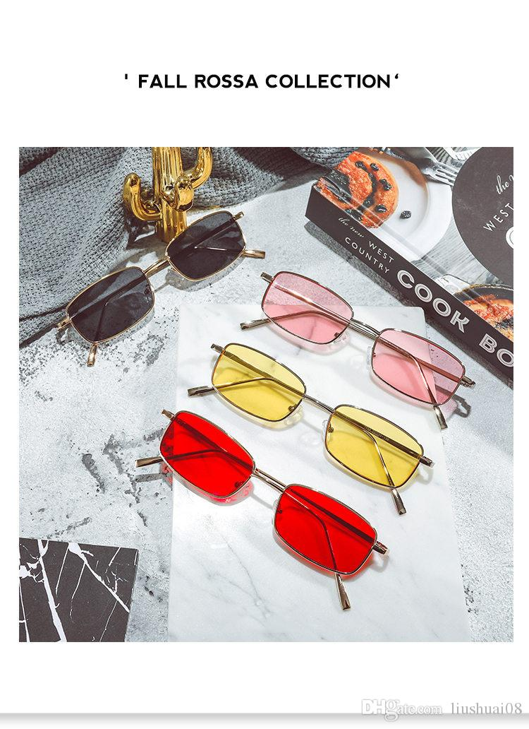 Compre Vintage Quadrado Sem Aro Óculos De Sol Dos Homens Óculos De Sol  Feminino Rap Hip Hop Estilo Transparente Amarelo Óculos Masculino Marca  Designer ... bebf680477