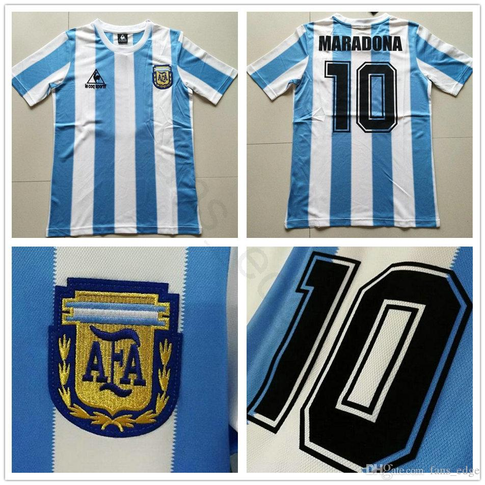57ba6f6dec3 2019 1988 World Cup Classic Vintage Argentina Soccer Jersey 10 MARADONA  CANIGGIA BATISTA DIEGO Custom Home Camisa De Futebol Football Shirt From  Fans edge