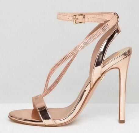 Blade Mariage Chaussures Bling Hauts Sandales De Champagne Sexy Strass 2018 Gladiateur Talons Soirée Femmes Or 45LRjq3A
