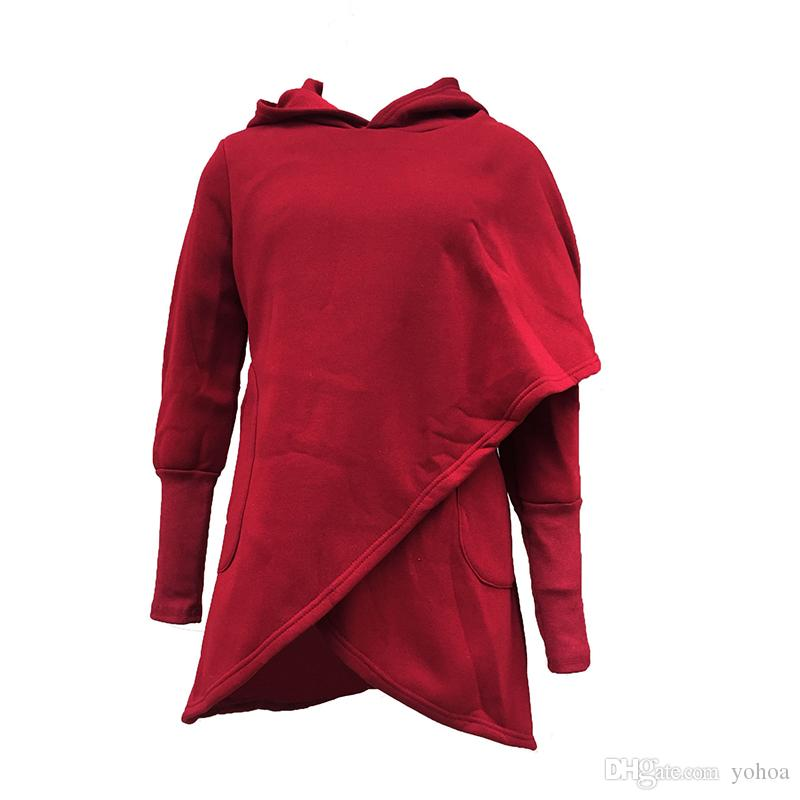 e59effab6224 2018 High Quality Autumn And Winter New Style Hooded Crossover Plus Velvet  Sweater Female Women Custom Sweatshirt Casual Sweatshirt Woman Sweatshirt  Fashion ...