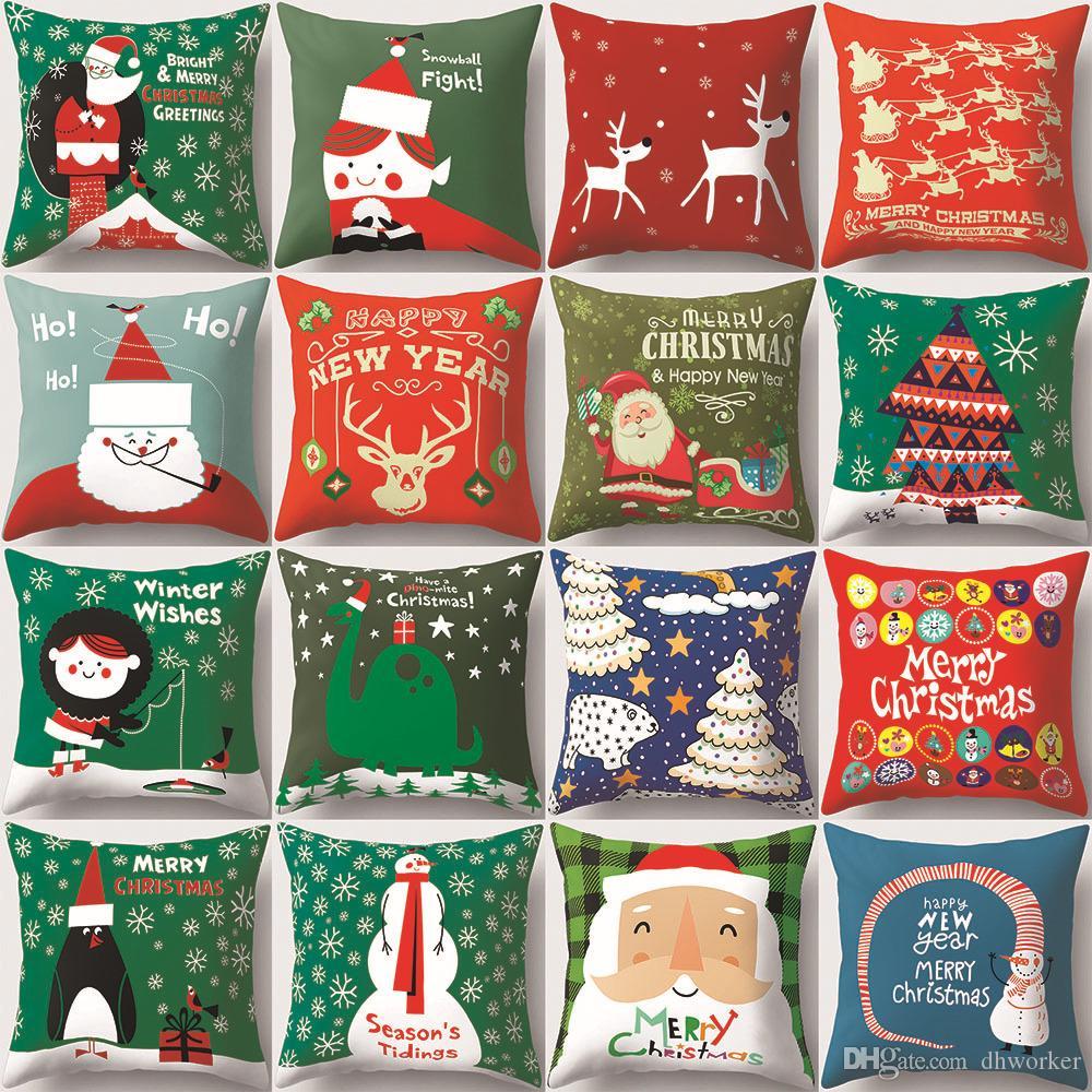 Weihnachtsgeschenke Haushalt.Schöne 16 Weihnachten Serie 45 45 Cm Haushalt Stoff Kissenbezüge Schlafzimmer Set Weihnachtsgeschenke Wohnkultur Party Dekoration