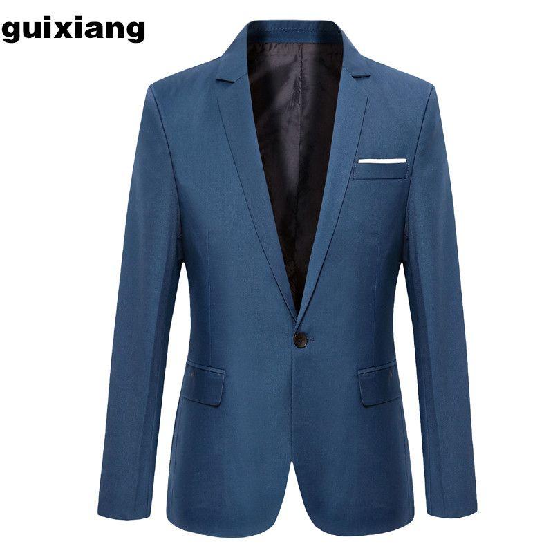 Uomini d'affari del nuovo arrivo 2018 uomini d'affari giacca pulsante singolo giacca blazers giacca da uomo di affari