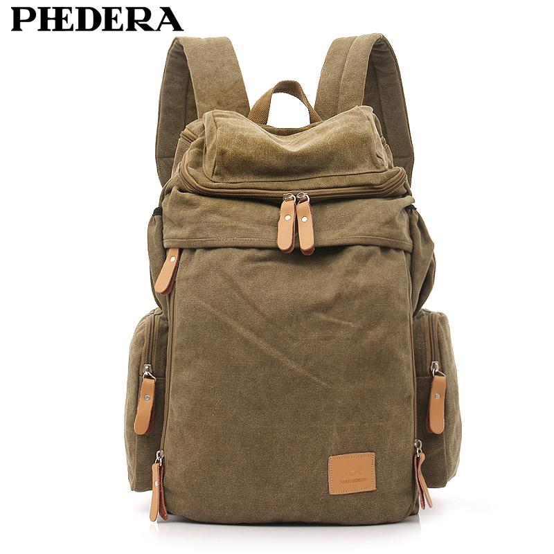 270e7e8a6 Backpack PHEDERA Hot Super Quality Wash Canvas Backpack Shoulder Bag ...