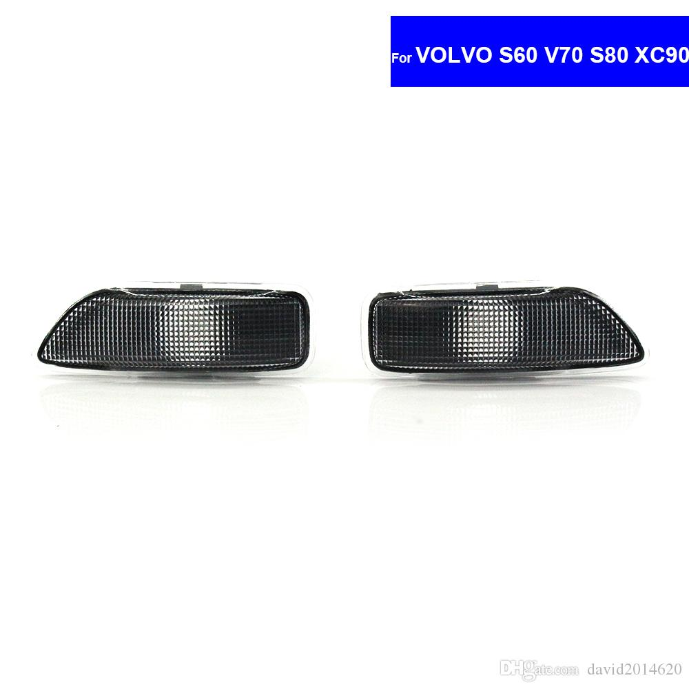 For Volvo S60 V70 S80 XC90 Auto Turn Signal Lights LED Side Marker Car  Lights No Bulb 30722641 / 30722642 Free Shipping