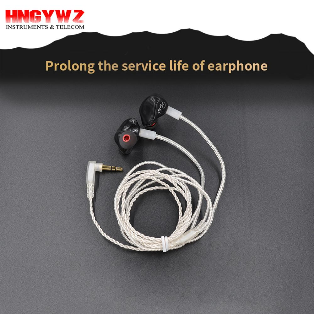 100% Original Kz Zst/Ed12/Zs3/Zs5 Zilver Upgrade Oortelefoon Kabel ...