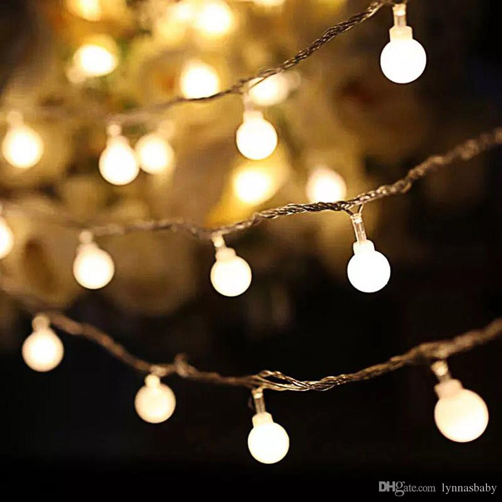 20led Globe Fairy String Light Ball Lights Christmas Birthday Party Led String Decor Guirlande Lumineuse Exterieur Fixing Prices According To Quality Of Products Outdoor Lighting
