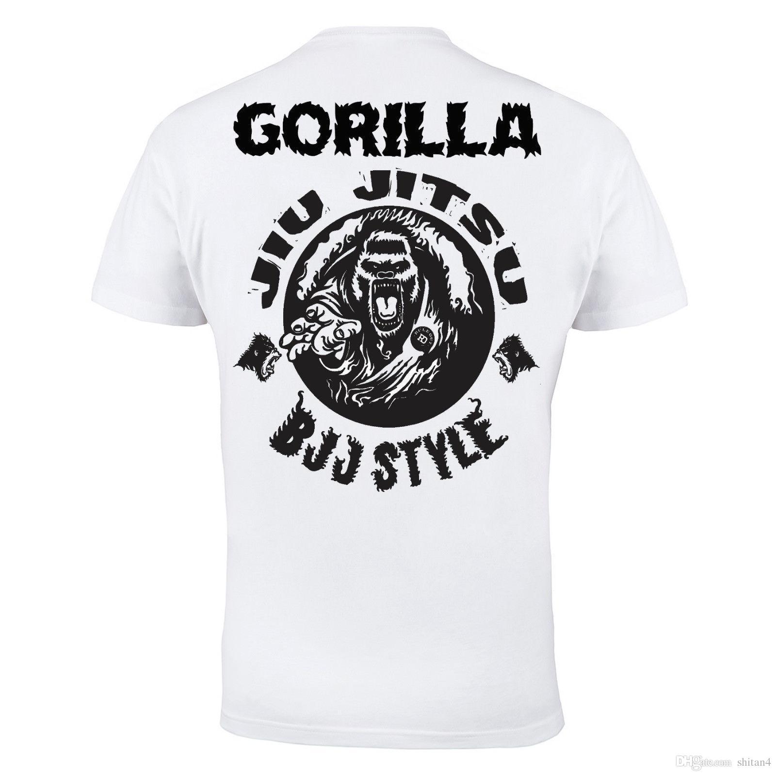 15eaea953a Brazilian Jiu Jitsu BJJ Martial Arts MMA Mens White Cotton T Shirt Top Tee  Shirt Novelty T Shirts Fun T Shirts From Shitan4, $11.78| DHgate.Com