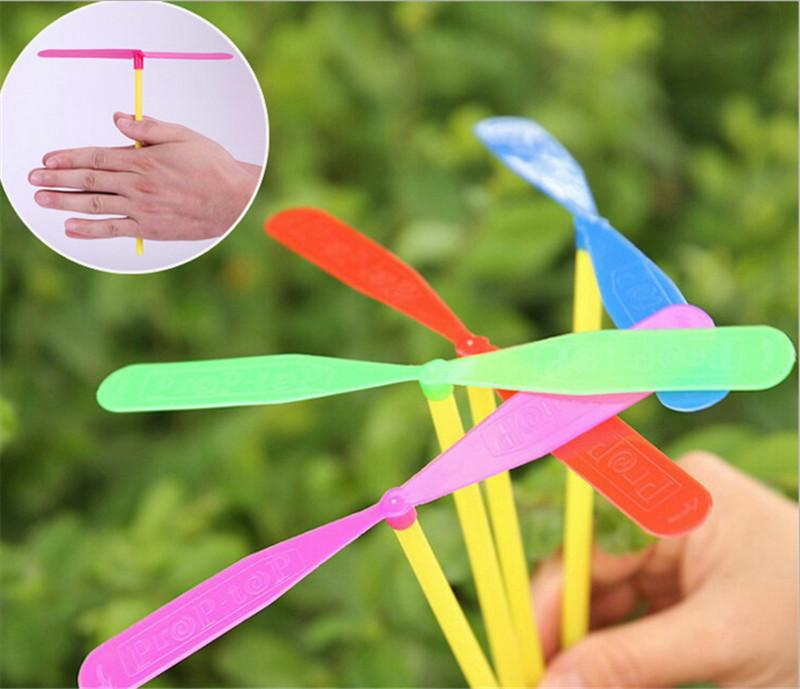 1PCS Plastic Dragonfly Assortment Mini Whirl A Copter Helicopter Birthday Pinata Fillers Kids Party Toy Favor Bag
