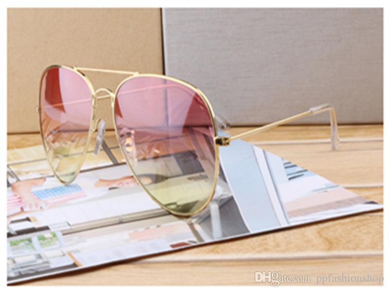 أعلى جودة مصمم النظارات الشمسية موضة جديدة لرجل امرأة نظارات ماركة نظارات الشمس التدرج uv400 العدسات