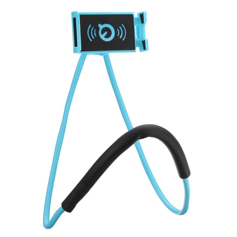 60 cm long arm Hand free smart phone holder Neck hong handfree Cell phone Mounts Selfie Stick lazy man phone Stand tool with retail box