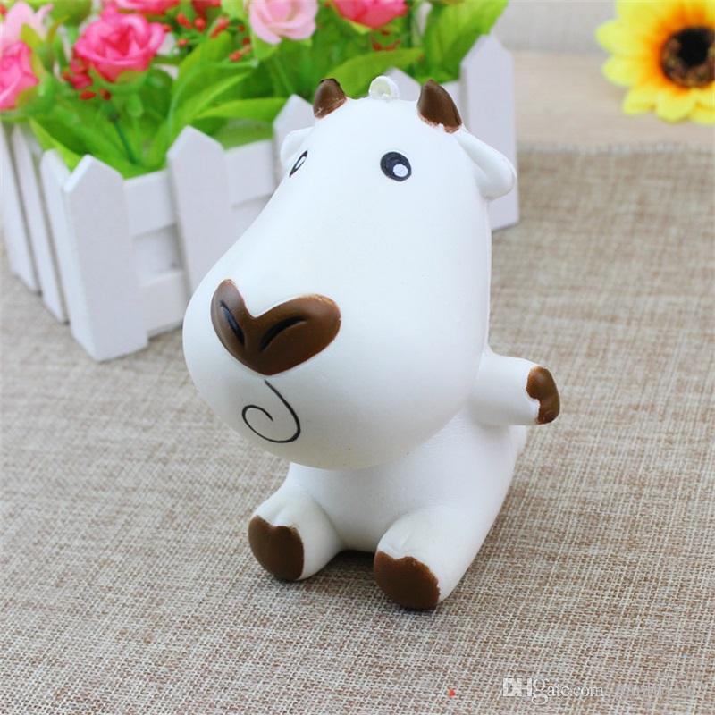 Jumbo Cartoon Milk Cow Squishy Slow Rising Phone Straps Charm Pendant Squishies Decompression Toys Children Novelty Games Gift 9 9rf CR