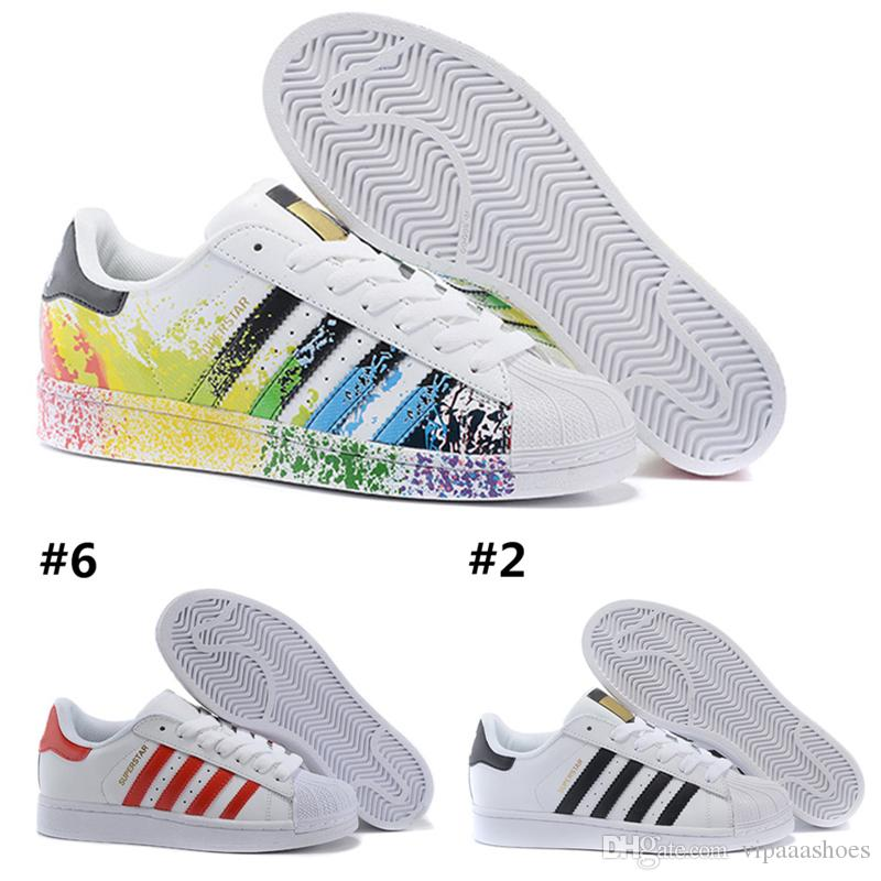watch 6394c c7c4c Discount Running Shoes Adidas Superstar Smith Mens Alta Quarity Mens Womens Superstar  Shoes Sneakers Casual Walking Shoes Mujer Flats es Tamaño 36 44 Nuevos ...