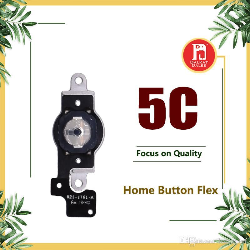 Pour iPhone 5C Bouton Menu À la maison Flex Câble avec plaque en métal Retour Câble Fil Ruban Pièces de Rechange Pour Apple iphone 5c