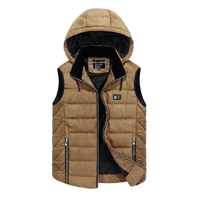 Men's Clothing Fashion New Brand Mens Jacket Sleeveless Vest Autumn Winter Casual Coats Male Cotton-padded Mens Vest Thicken Waistcoat Men Vests & Waistcoats