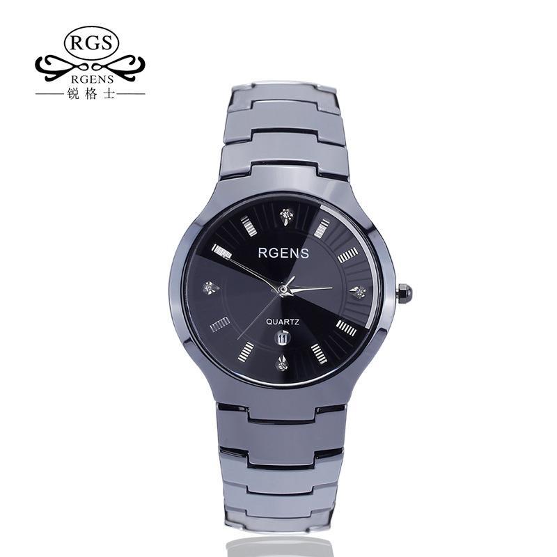 6ea10985e869 Compre Reloj De Cerámica Real Para Hombres Reloj De Pulsera Original Blanco  Y Negro Para Hombres Y Mujeres Relojes De Pulsera De Diamantes De Lujo A  Prueba ...